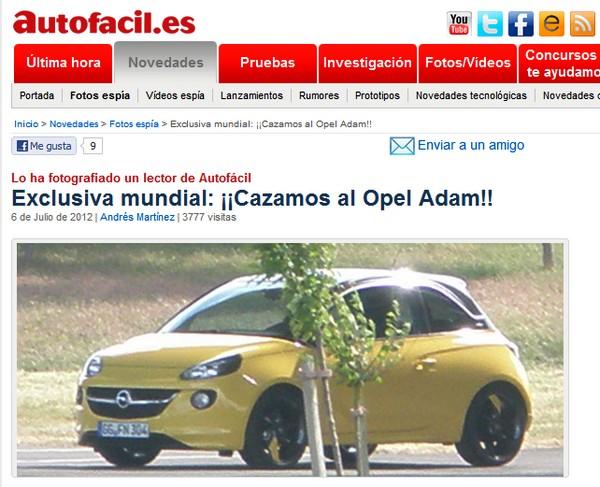 opel adam ungetarnt enttarnt Vorsicht: Enttarnung! So sieht der Opel Adam aus!