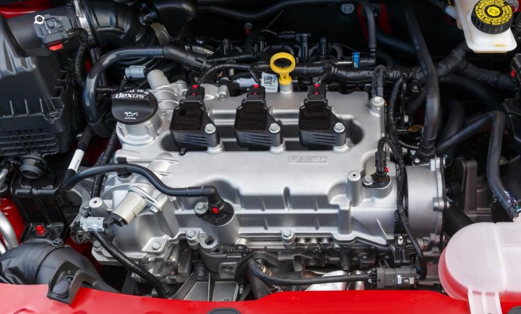 Motorraum des Opel Karl -Foto © GM Company